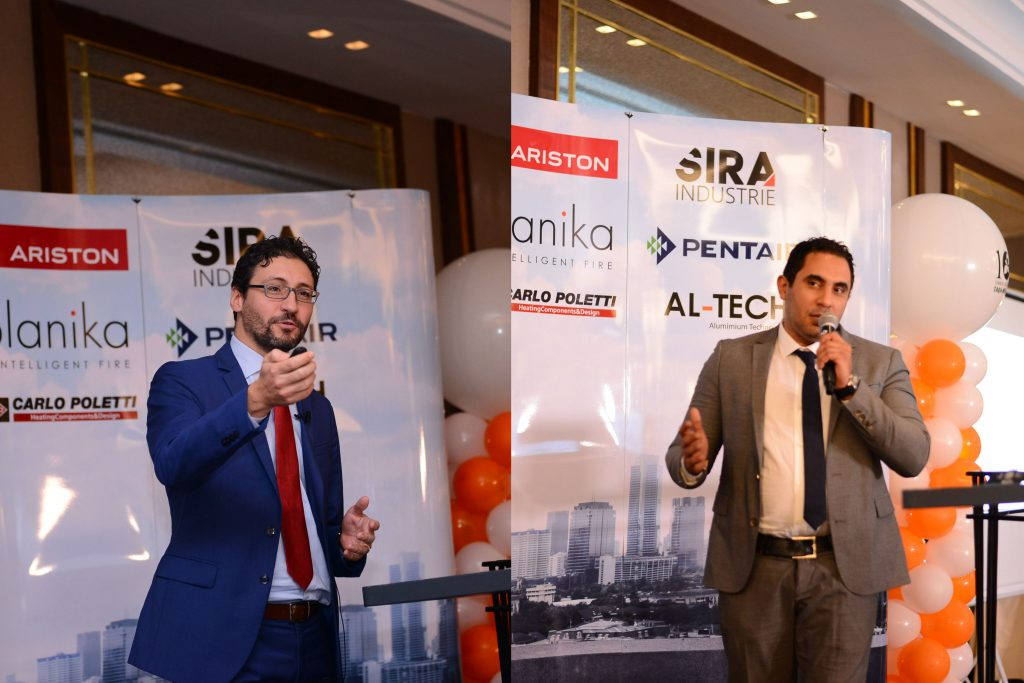 Mr. Gam Paulo, Regional Director for North Africa Ariston, and Mr. Tarek Samir, Egypt Country Manager Ariston